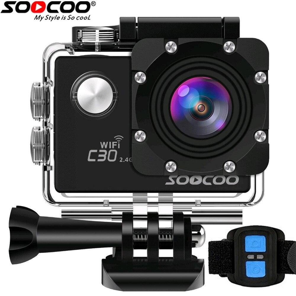 SOOCOO C30/C30R 4 K cámara de deportes Wifi Gyro Novatek96660 30 m impermeable ajustable ángulos de cámara de acción