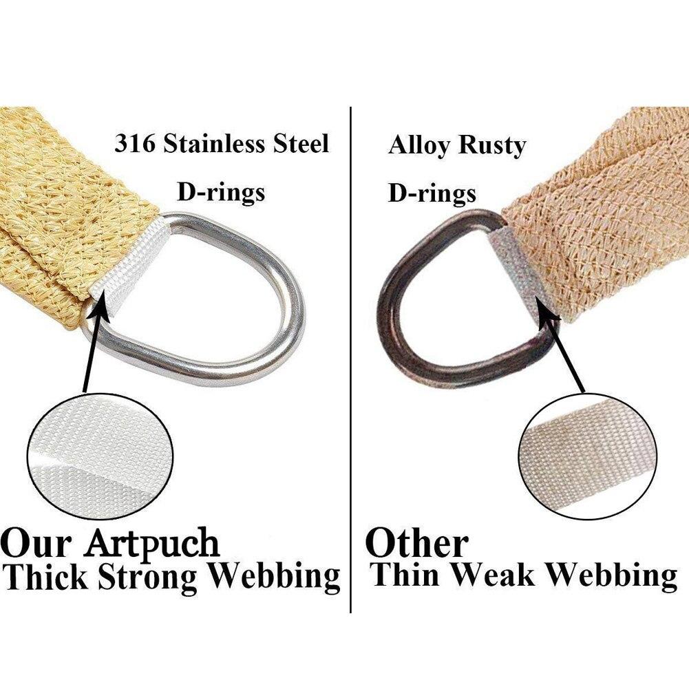 3X4 m/4X4 m UV protection 70% imperméable Oxford tissu extérieur soleil protection solaire ombre Net 66CY