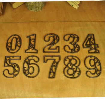 20 шт. чугун номер 0-9 под старину Металла Дом дверь номера арабскими цифрами 0123456789 Главная дорога магазин номер настенный