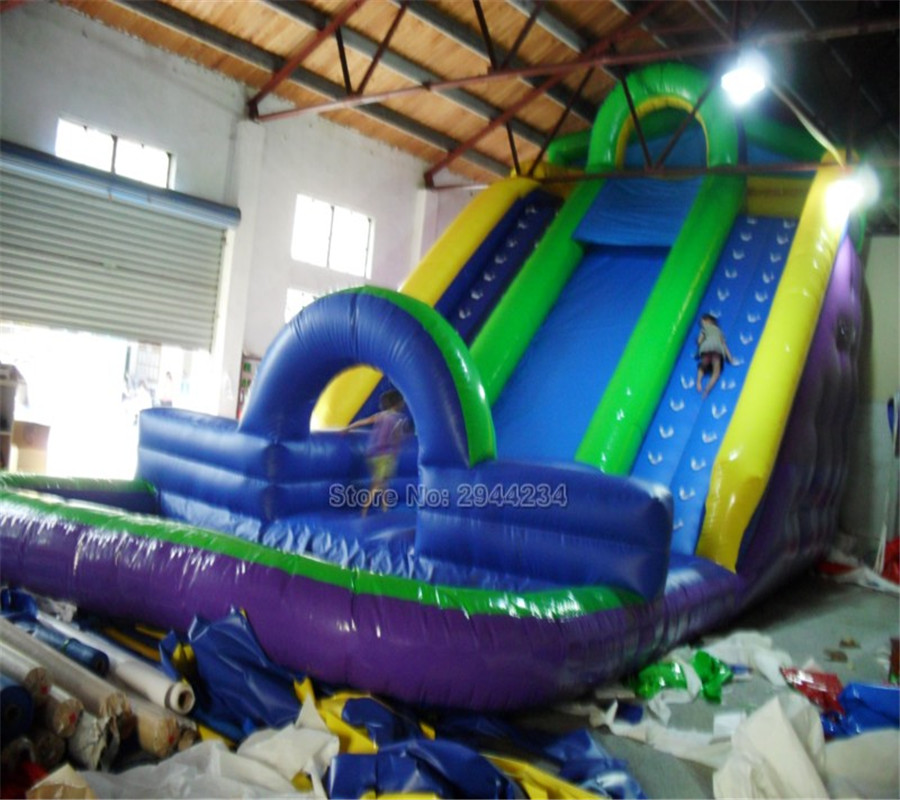 Factory price giant big inflatable water slide with pool  game on sale popular best quality large inflatable water slide with pool for kids