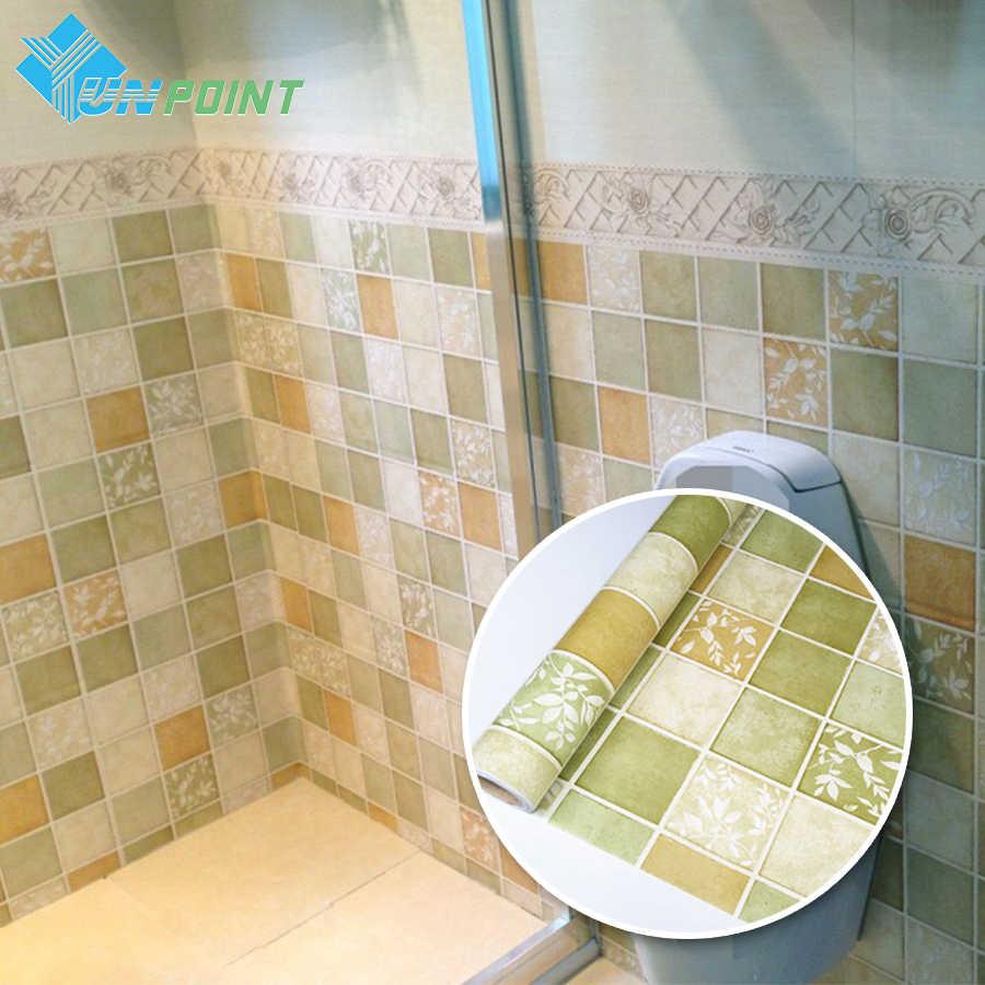 Mosaik Selbst Klebe Tapete Bad Wasserdichte Wand Aufkleber Kuche Hohe Temperatur Aufkleber Pvc Papel De Parede Fliesen Dekor Aliexpress