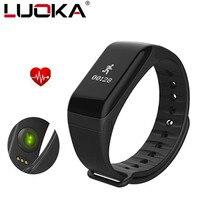 LUOKA Fitness Tracker Wristband Heart Rate Monitor Smart Band F1 Smartband Blood Pressure With Pedometer Bracelet