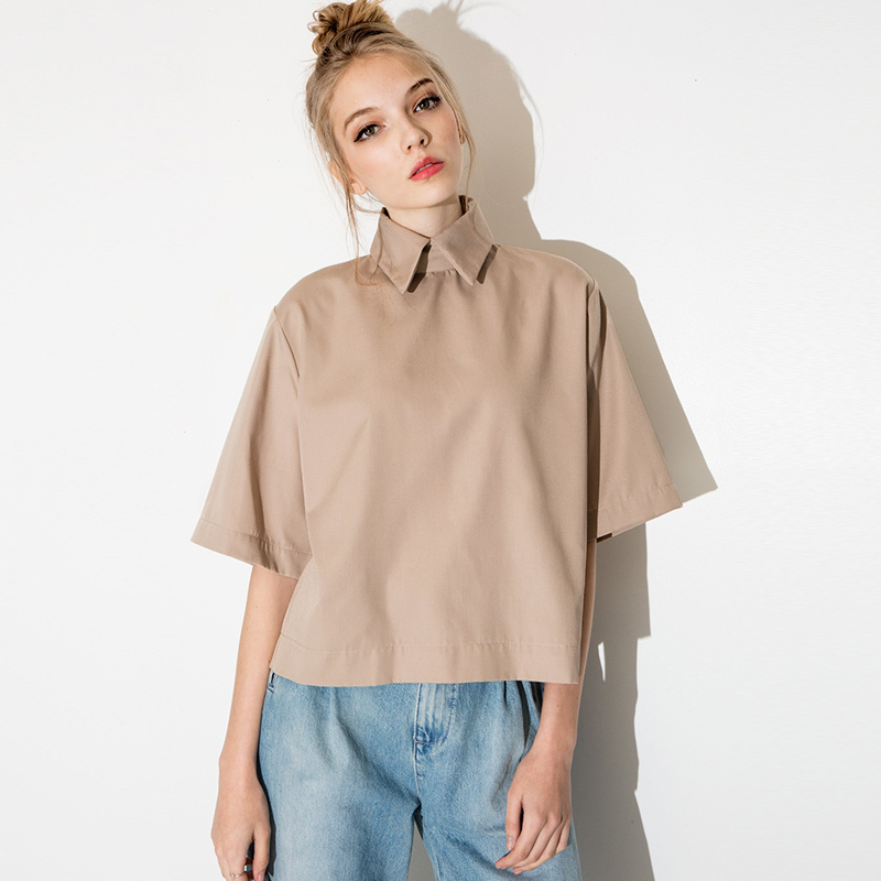 76e5a1eb1cec5 Women Blouses Plus Size Blusas Half Sleeve Blouse Casual Shirt Womens Tops  Short Blusa Feminina Turn-Down Collar Women Shirts