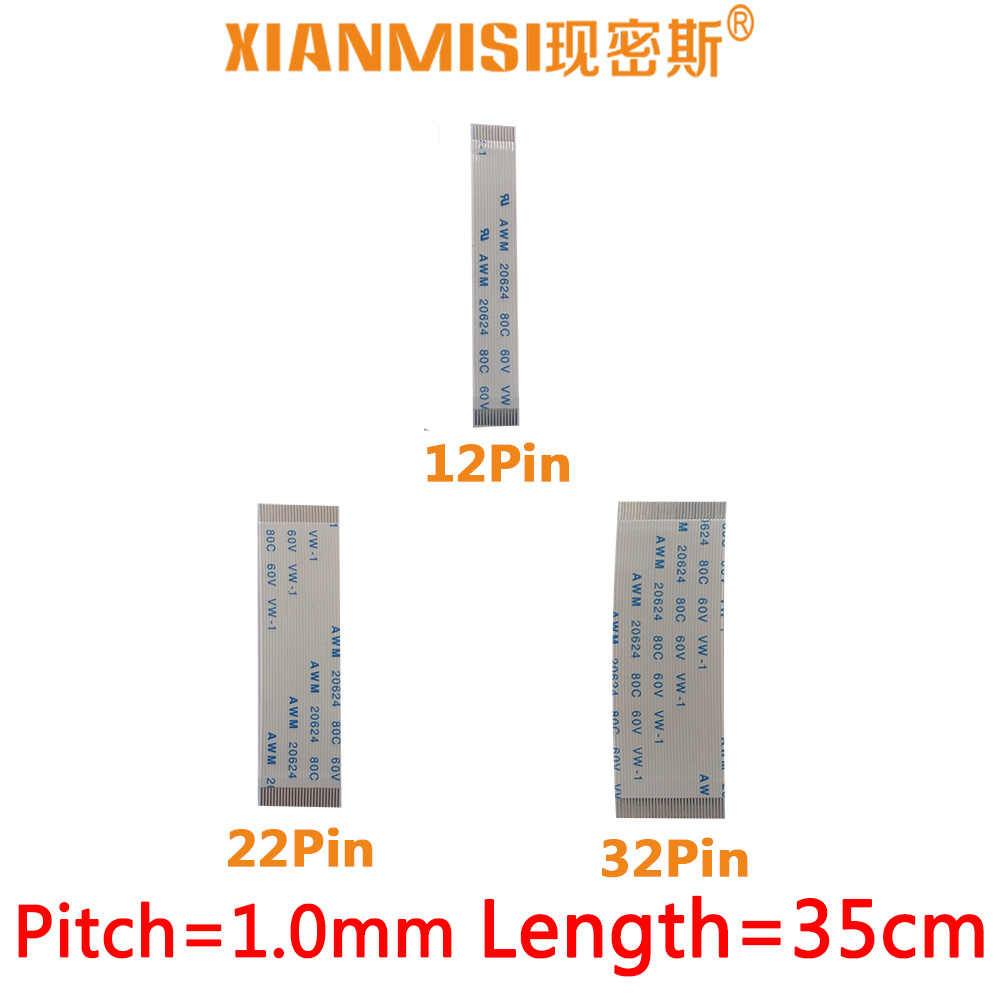 FFC/FPC Platte Flex Verlengkabel 12Pin 22Pin 32Pin Dezelfde Kant 1.0mm Pitch AWM VW-1 20624 20798 80C 60 V Lengte 35 cm 5 STKS