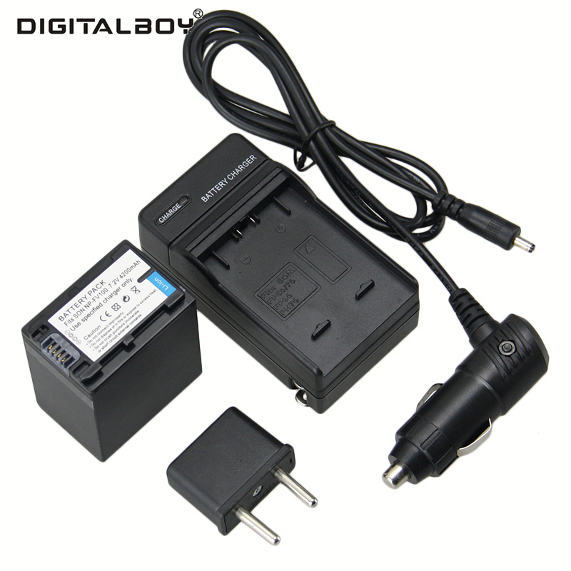 Hot 1Pcs NP-FV100 NP FV100 NPFV100 li-ion Battery+Charger+Car Charger for SONY XR150E CX550E CX350E CX150E NP-FV70 FV50 z1 dste fh100 fh50 fh70 fv100 fv70 fv50 fp50 fp90 fp100 battery charger for sony video camera more
