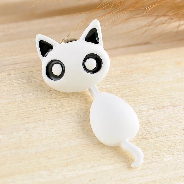 Cute Kitten Earrings 1 PCS