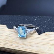 Moda 925 joyas de plata de 4mm * 6mm anillo de topacio naturales para la mujer chapado en oro sólido anillo de plata 925 promoción joyería de plata mejor