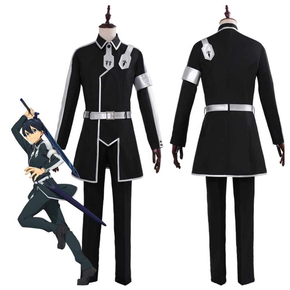 Sword Art Online Kirigaya Kazuto Cosplay Costume Uniform Suit Halloween Carnival Costumes Full Set Custom Made