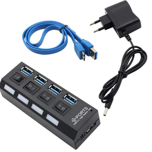 High Speed 4 Ports USB 3.0 Hub USB3.0 HUB Portable OTG Hub U