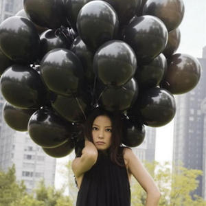 Image 5 - Black Balloons 50pcs 12 Inch 2.2g Wedding Decoration Latex Balloons For Happy Birthday Inflatable Helium Party Balloons Supplies