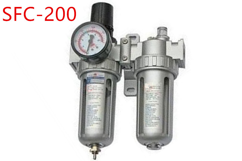 цена на SFC200 Two Units Air Filter Regulator Lubricator Air Compressor Filter Regulator Air Preparation Units