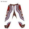 2016 Nuevo Diseño de Moda Africana Tradicional de Impresión 100% Algodón Dashiki Blue sky Pantalones Para Unisex