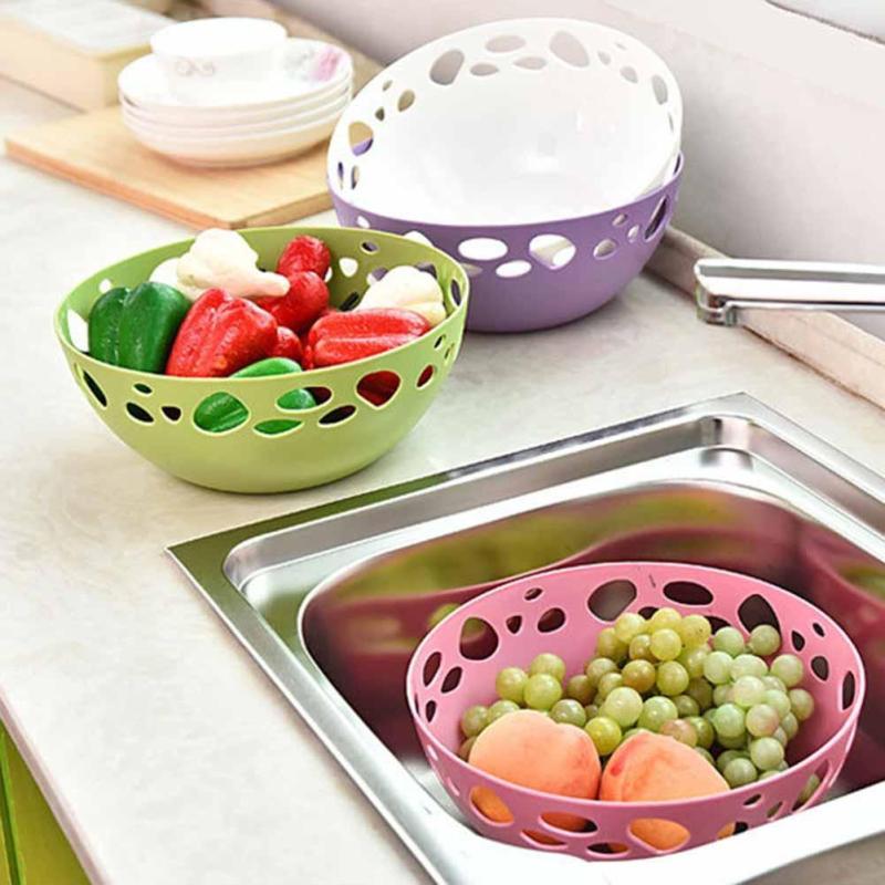 cucina cesto di scarico vapore cesti di frutta lavare le verdure e la frutta organizzatore