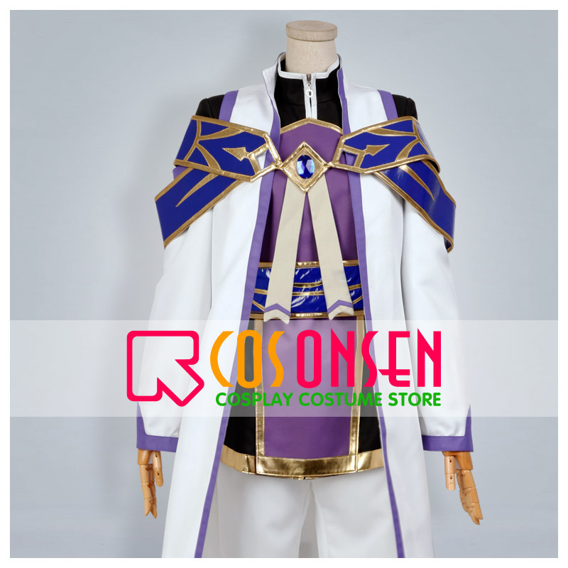 COSPLAYONSEN Wand of Fortune Est Rinaudo Cosplay Costume White Purple Color Any Size Custom Made