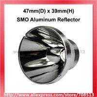 47mm (D) x 39mm (H) SMO Aluminium Reflektor für CREE XM L|Tragbare Beleuchtung Zubehör|Licht & Beleuchtung -