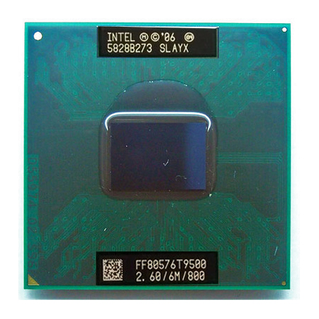 Original ITNEL laptop Core 2 Duo t9500 CPU 6M Cache/2.6GHz/800/Dual Core Laptop processor for 965 chipset