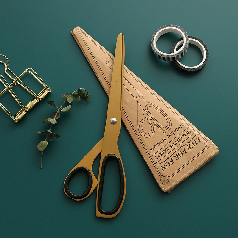 Vintage Craft Scissor Design Brass Scissors Paper Cutter Office Accessories Notebook Planner DIY Tool School Stationery Store