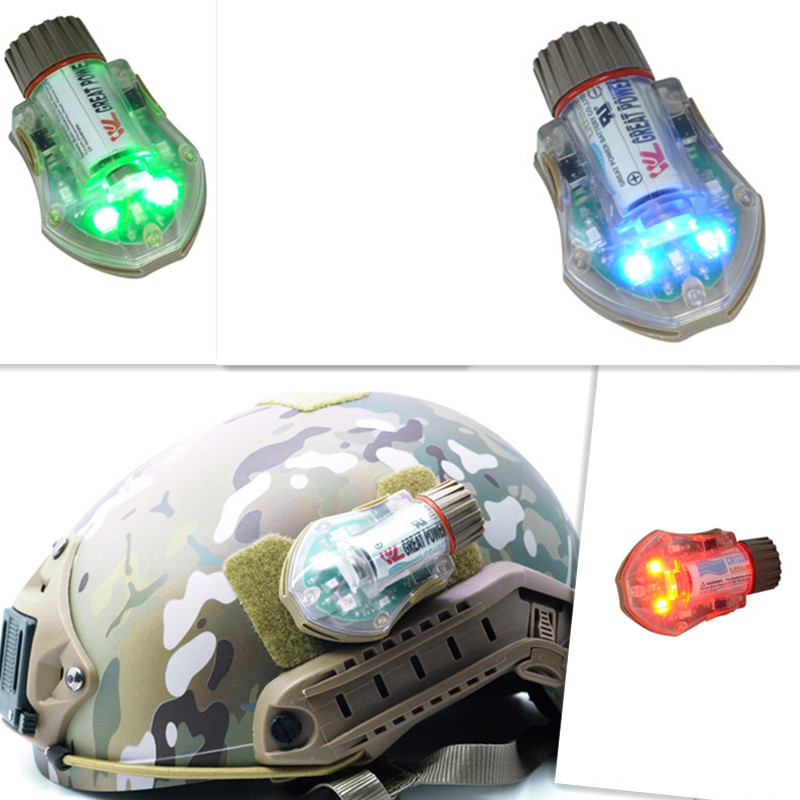 FMA Manta Strobe GREEN RED BLUE Type 2 Helmet light Manta strobe replica Survival Paintball Accessories Free shipping video play strength test tactical helmet new fma maritime abs de for fma paintball outdoor sports helmet