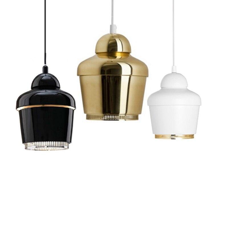 Modern Crown LED Pendant Light Painting Metal body black chrome gold 3W LED bulb warm white 3000K 6000K Toolery hanging lamp f 503 mini 3w 22lm 1 led white light usb bulb black