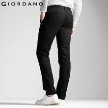 Giordano homens marca khaki calças slim cônicos calças de qualidade de algodão masculina sociais hombre pantalones casuais modernos(China (Mainland))
