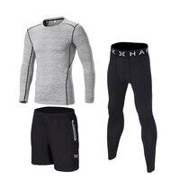 Kids boys compression running sets football basketball cloth soccer shirts pants shorts sports fitness GYM tights leggings 3pcs