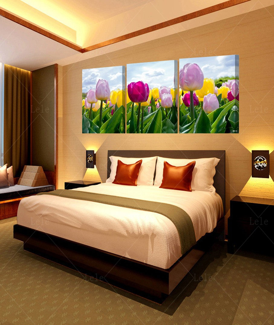 Wall Art Tulip Beautiful Picture Wall Painting Flower Canvas Art Decoration  Large Kitchen Prints Provence Panels Paintings Of In Painting U0026 Calligraphy  From ...