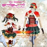 Anime Love Live Yazawa Niko Christmas Awakening Dress Cosplay Costume Custom Little Cloak Stockings Red Hat Girl Dress Skirt