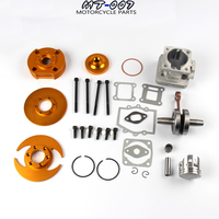 High Performance Big Bore Kit 44mm Cylinder Piston Crankshaft Set For 47cc 49cc Mini Moto Dirt