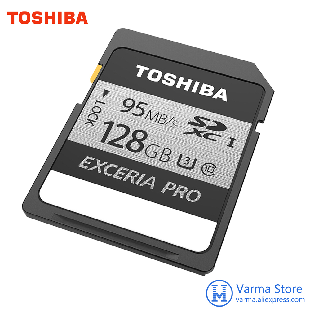 Original Toshiba exceria pro SD card N401 SD flash card SD memory card UHS-I U3 32GB 64GB 128GB Class10 4K UltraHD SDHC SDXC