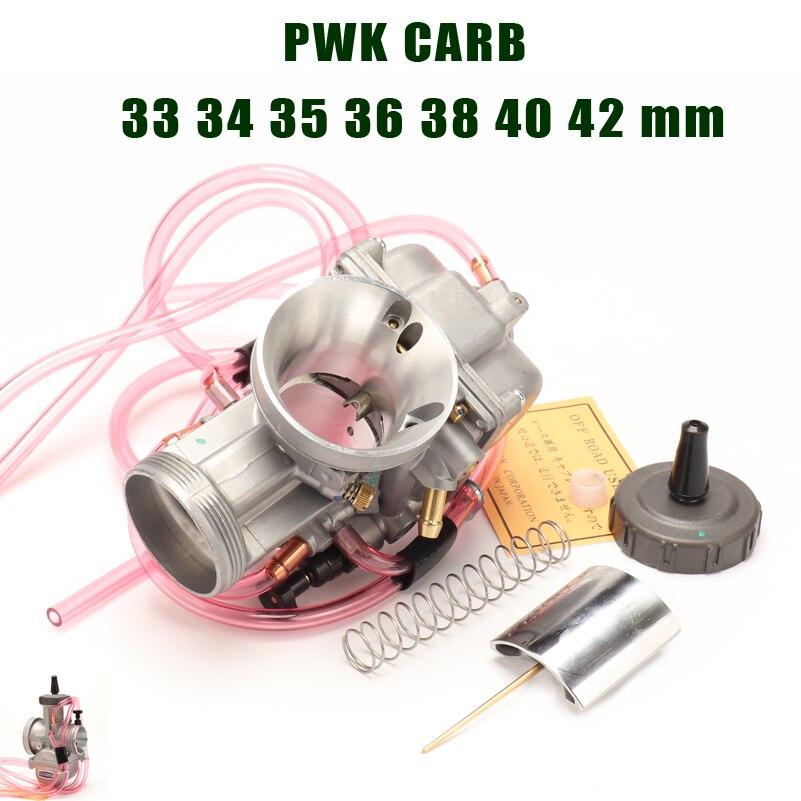 PWK carburateur de course 33 34 35 36 38 40 42mm moto Carb universel pour moto de saleté Motocross aller kart. cyclomoteur scooter ATV Quad