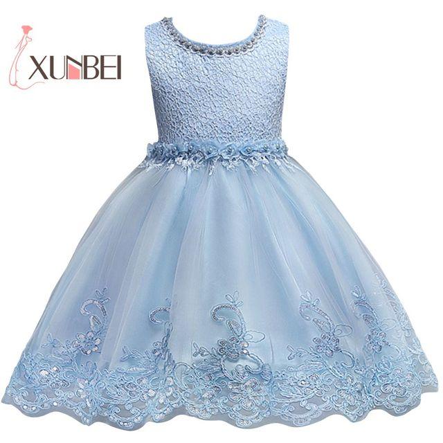Peras de princesa Rosa Da Menina de Flor Vestidos 2019 Vestidos Pageant para Meninas Vestidos de Primeira Comunhão Vestido de Festa de Aniversário