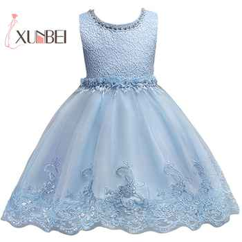 Princess Pink Pears Flower Girl Dresses 2019 Pageant Dresses for Girls First Communion Gowns Birthday Party Dress - DISCOUNT ITEM  35% OFF All Category