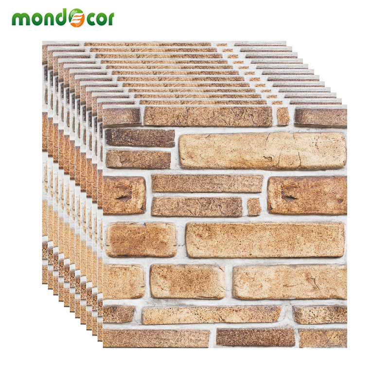 Modern Retro Brick Pattern 3D Wall Paper Home Decor Self Adhesive Film PVC Waterproof Kids Room Living Room Wallcovering Decals