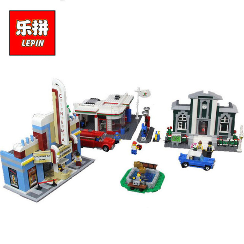 In Stock Lepin Sets 02022 2080Pcs City Figures 50th Anniversary Town Plan Model Building Kits Blocks Bricks Kids Toys Gift 10184 anniversary set town plan lepin cinema service station lamppost vehicle 02022 city diy building blocks bricks toys 10184 2080pcs
