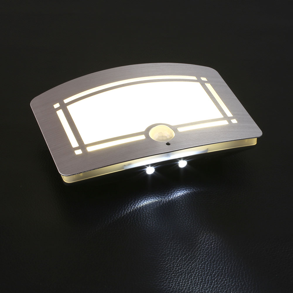 motion sensor activated battery operated led wall lamp. Black Bedroom Furniture Sets. Home Design Ideas