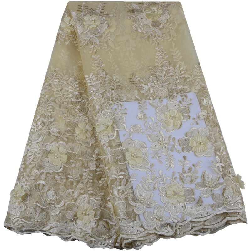 African Lace Fabric 2019 High Quality 3D Lace French Net Lace Fabric 2019 African Nigerian Lace