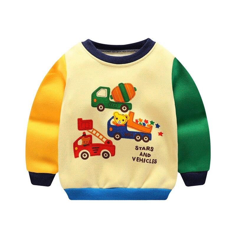 Tumpjoy Cartoon Animal Pattern Boys Long Sleeve T Shirt For Children Cotton Children Kids Boys Tops Tees T Shirt Spring Autumn