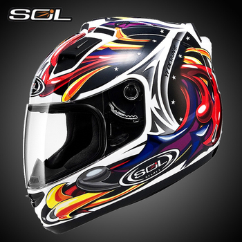 Sol Intégral Moto Rcycle Casque Individualité Licorne Applique Moto Vélo Casque Course Dot Approuver Moto Capacete 68 S