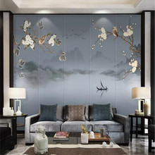 Custom wallpapers flowers and birds flowers landscape scenery living room TV background wall painting waterproof material diy colorings pictures by numbers with colors vintage flowers and birds picture drawing painting framed home