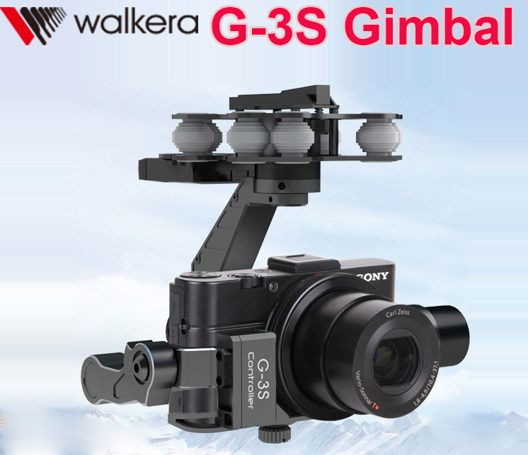 Original Walkera G-3S Brushless 3D Metal Gimbal Professional 3-Axis Brushless Gimbal For Sony RX100 II Camera f11088 walkera camera mount g 3dh brushless gimbal with 360 degrees tilt control