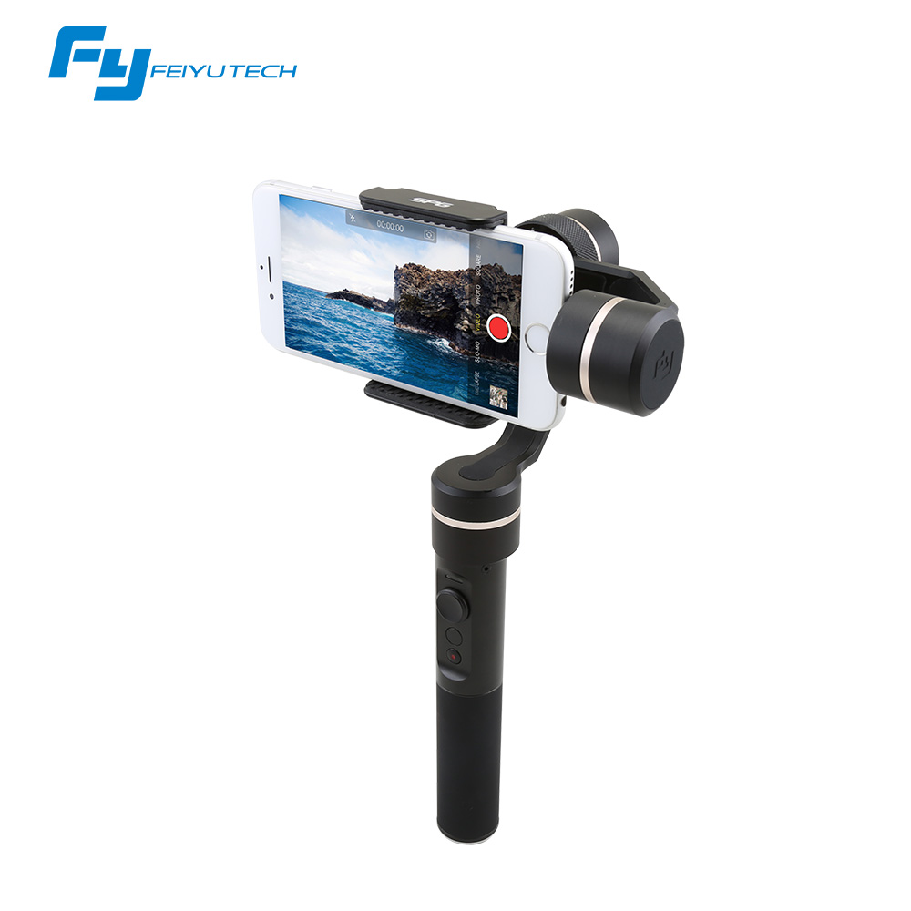 FeiyuTech SPG Cardan 3-Axis Cardan Stabilisateur De Poche pour iPhone 7 6 Plus Smartphone Gopro Camera Action VS Zhiyun Lisse Q