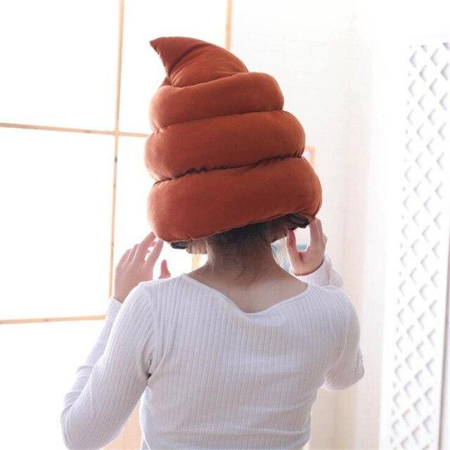 Плюшевая шапка какашечка 2