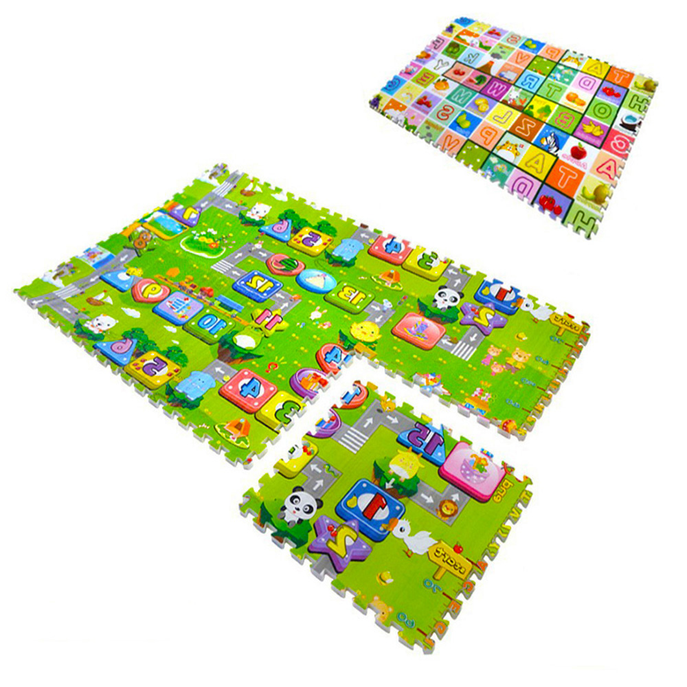 6pcsset Kids Toys Carpet Puzzle Mats 60*60*2cm Rug Puzzle Baby Play Mats EVA Mat Children Foam Carpet Developing Rug Goma Eva