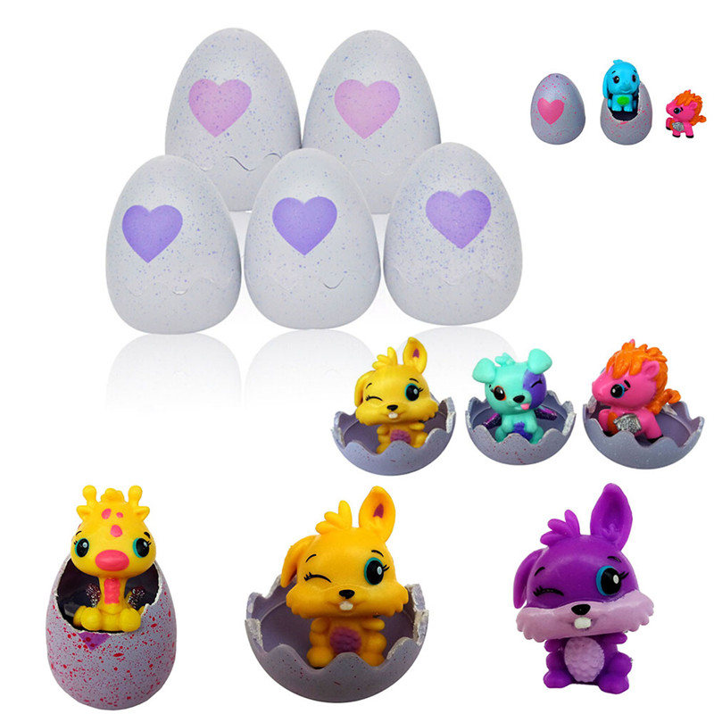 Creative Kids Incubation Toy Eggs Magic Hatching Animal Cute Interactive Magical Creatures Hatching Egg Toys Gifts - Random