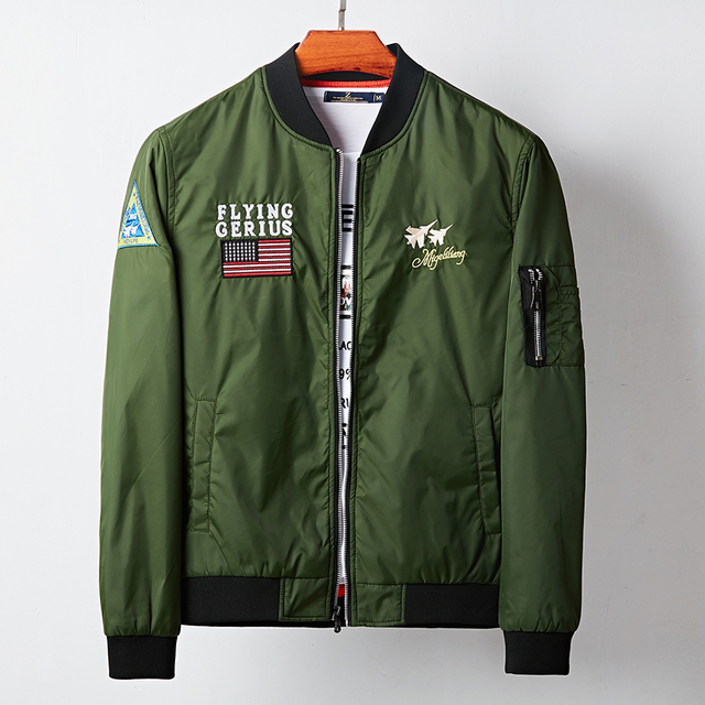 Hot Sale 2017 Autumn Bape Bomber Jackets Men Army Green Military ...