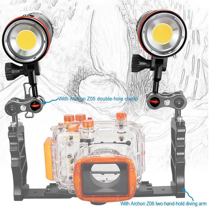 ARCHON дайвинг фотография Свет Макс 12 000 люменов положительное белое освещение Дайвинг съемка Подводный HD видео фото дайвинг свет - 3