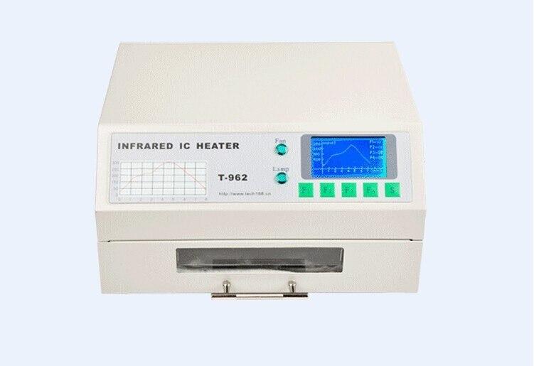 PUHUI T-962 T962 печи оплавления инфракрасный обогреватель пайки машина 800 Вт 180x235 мм T962 для BGA SMD SMT паяльная C0167