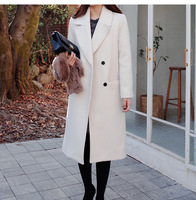 New 2018 Women Autumn Winter Loose Woolen Fashion Casual Wool Female Coats Outwear Korean Style Long Coat Abrigos Mujer Invierno