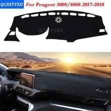 Auto Styling Polyester Armaturenbrett Schutzmatte Schatten Kissen Photophobism Pad Interne Teppich Für Peugeot 3008 4008 2017 2018