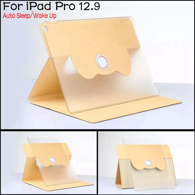 Luxury 360 Degree Rotating Stand Smart Leather Cover Case for iPad Pro 12.9 inch With Auto Sleep/Wake Up+Free Stylus Pen sgl luxury ultra smart stand cover for ipad air 1 ipad5 case luxury pu leather cover with sleep wake up function for ipad air1